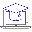 e, education, learning, online, study icon