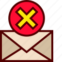 delete, email, erase, inbox, mail icon