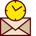 email, inbox, letter, mail, message, snoozed icon