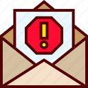 email, junk, mail, phishing, scam, spam, virus icon