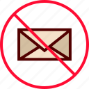blocked, denied, email, forbidden, mail icon