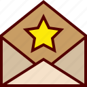 envelope, favorite, letter, mail, mailing, star icon