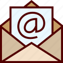 email, inbox, letter, mail, open icon