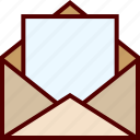 email, empty, inbox, letter, mail, open icon