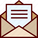 email, inbox, letter, mail, open, send icon