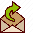 email, forward, mail, open, send icon
