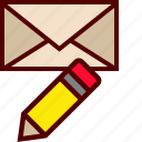 compose, draft, email, mail, write icon