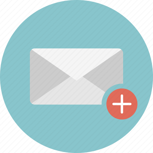 add, email, envelope, mail icon