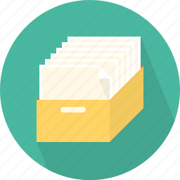 archive, document, folder, mail icon