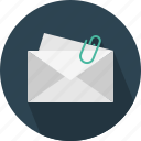 attache, email, envelope, mail icon