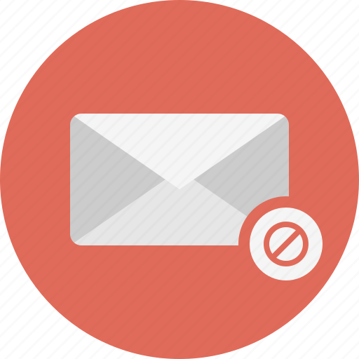 block, email, envelope, mail icon
