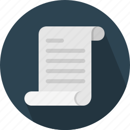 brief, document, script, scroll icon