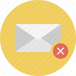 delete, email, envelope, mail icon
