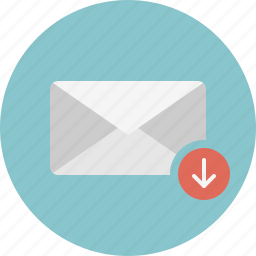 download, email, envelope, inbox, mail icon