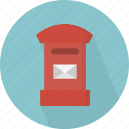 box, envelope, mail, mailbox icon