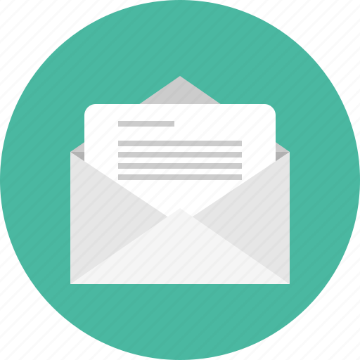 Document, envelope, mail, open icon - Download on Iconfinder