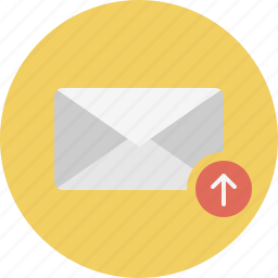 email, envelope, mail, outbox icon