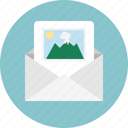 email, envelope, mail, picture icon