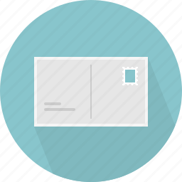 letter, mail, postcard, stamp icon