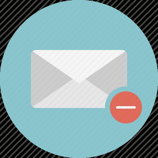 delete, email, envelope, mail, remove icon