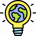 earth, environment, ecology, energy, renewable, light, bulb