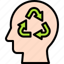 earth, environment, ecology, recycling, recycle, human mind, green