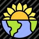 earth, environment, ecology, sunflower, globe, nature, planet