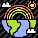 earth, environment, ecology, world, nature, rainbow, globe
