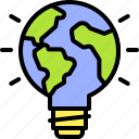 earth, environment, ecology, light bulb, planet, world