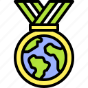 earth, environment, ecology, medal, prize, badge