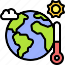 earth, environment, ecology, warming, global, thermometer, planet