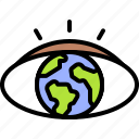 earth, environment, ecology, earth day, eye, vision, planet