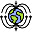 earth, environment, magnetic, globe, field, planet, world