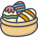 basket, chocolate, easter, egg, holiday icon