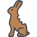 bunny, chocolate, easter, holiday, rabbit icon