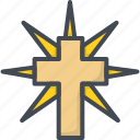 cross, easter, grave, holiday, religion, shine icon