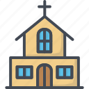 building, church, easter, holiday icon