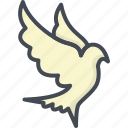 animal, easter, holiday, peace, pigeon icon