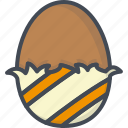 chocolate, easter, egg, gift, holiday icon