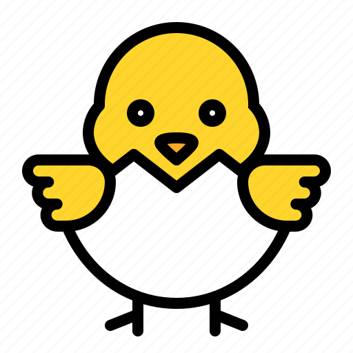 Animal, chick, chicken, easter, eggshell icon - Download on Iconfinder