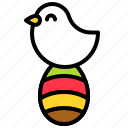 bird, dove, easter, easter egg, egg icon