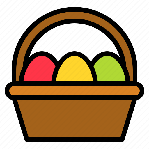 Basket, easter, easter egg, egg basket icon - Download on Iconfinder