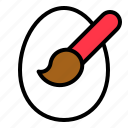 easter, egg, paint, paintbrush, painting icon