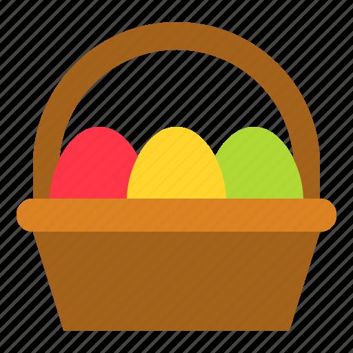 Basket, easter, easter egg, egg basket icon - Download on Iconfinder