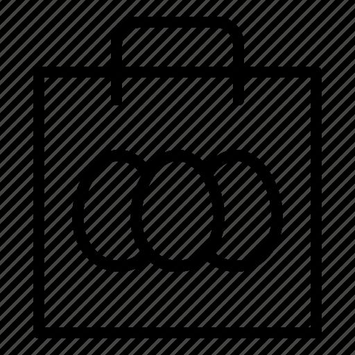 bag, easter, easter egg, shopping icon