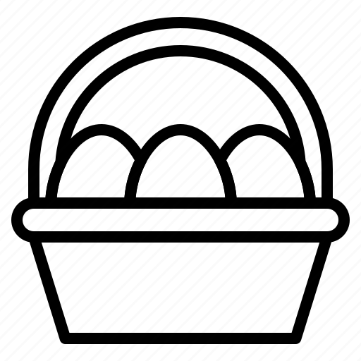 basket, easter, easter egg, egg basket icon