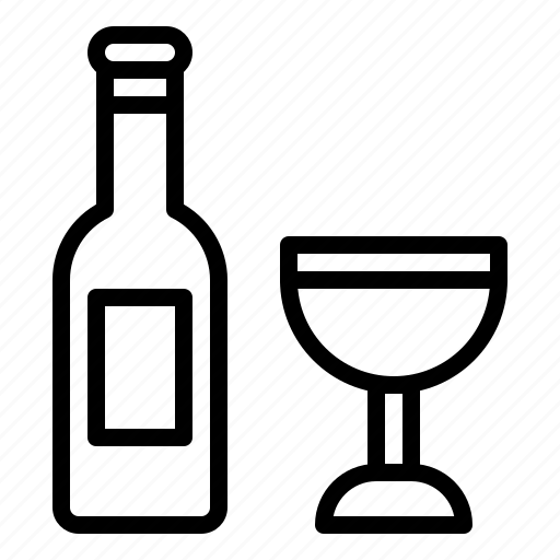 alcohol, bottle, drinks, easter, wine icon