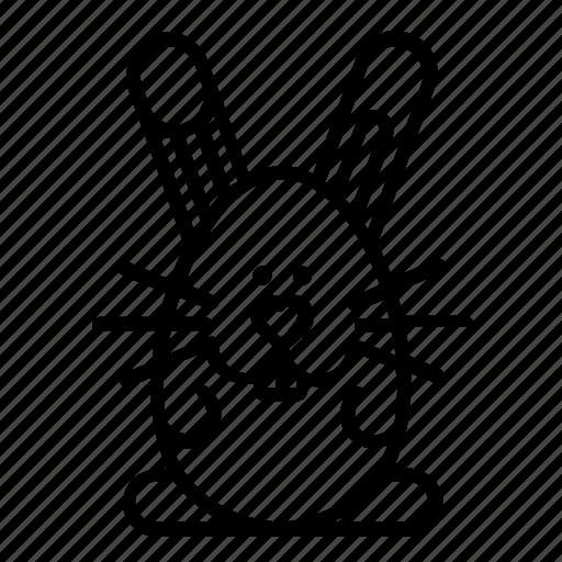bunny, ears, easter, rabbit, teath icon