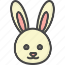 bunny, colored, easter, head, holidays icon