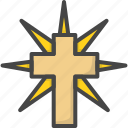colored, cross, easter, holidays icon